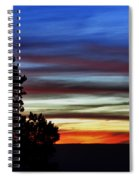 Sunset At Desert View Along The Grand Canyon Spiral Notebook