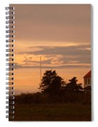 Sunset At East Point Light  Spiral Notebook