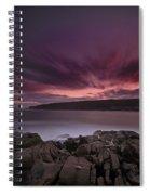 Sunset At Otter Point Spiral Notebook