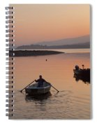 Sunset At Rosdohan Pier Near Sneem Spiral Notebook