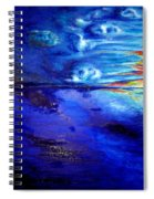 Sunset At Sea By Ted Jec. Spiral Notebook