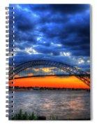 Sunset At The Bayonne Bridge Spiral Notebook