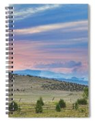 Sunset At The Colorado High Park Wildfire  Spiral Notebook