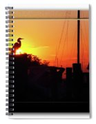 Sunset At The Granary Spiral Notebook