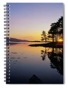 Sunset At The Lake, Kenmare, Ring Of Spiral Notebook
