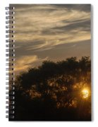 Sunset At The Oasis Spiral Notebook