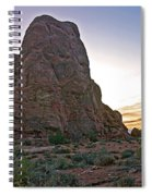 Sunset At Turret Arch Spiral Notebook