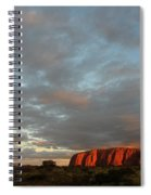 Sunset At Uluru Spiral Notebook
