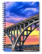 Sunset At Yaquina Bay Spiral Notebook
