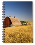 Sunset Barn And Wheat Field Steptoe Spiral Notebook
