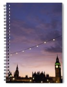 Sunset Behind Big Ben And The Houses Spiral Notebook
