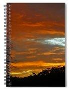 Sunset Behind The Palms Spiral Notebook