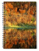 Sunset Glow On The Pond Spiral Notebook