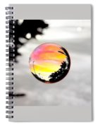 Sunset In A Bubble Spiral Notebook