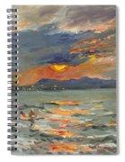 Sunset In Aegean Sea Spiral Notebook