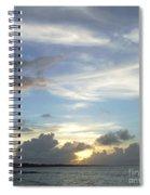 Sunset In Majuro Spiral Notebook