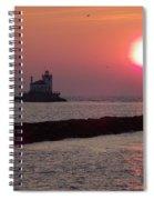 Sunset In New York Spiral Notebook