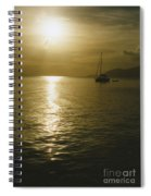 Sunset In The Bvi Spiral Notebook