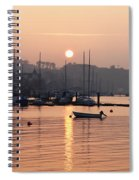 Sunset In The Harbor Crosshaven County Spiral Notebook