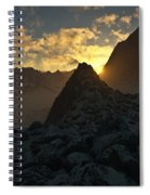Sunset In The Stony Mountains Spiral Notebook