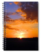 Sunset In Wayne County Spiral Notebook