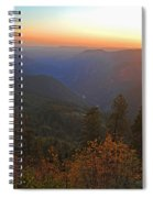 Sunset In Yosemite Spiral Notebook