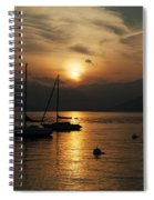 Sunset Lake Maggiore Spiral Notebook