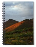 Sunset Light Hitting The Mountains Spiral Notebook