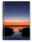 Sunset Moon Venus Spiral Notebook