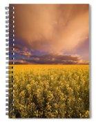 Sunset On A Canola Field Spiral Notebook