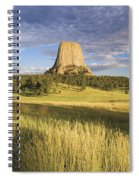 Sunset On Devils Tower Wyoming United Spiral Notebook