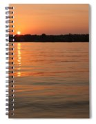 Sunset On Geist Reservoir In Lawrence In Spiral Notebook
