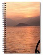 Sunset On Lake Como Spiral Notebook