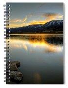 Sunset On Little Washoe Spiral Notebook