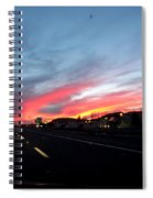 Sunset On Route 66 Spiral Notebook