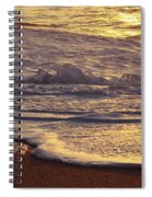 Sunset On Small Wave Spiral Notebook