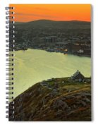 Sunset On St. John's Harbour Spiral Notebook