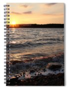 Sunset On The Bay Of Fundy Spiral Notebook
