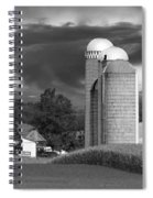 Sunset On The Farm Bw Spiral Notebook