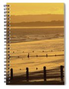 Sunset Over Beach In Winter Youghal Spiral Notebook