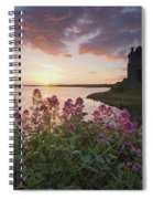 Sunset Over Dunguaire Castle, Kinvara Spiral Notebook