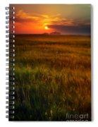 Sunset Over Field Spiral Notebook