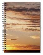 Sunset Over Grain Bins Spiral Notebook