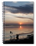 Sunset Over Lovewell Lake Spiral Notebook