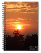 Sunset Over Maine Spiral Notebook