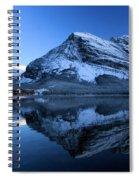 Sunset Over Many Glacier Lodge Spiral Notebook