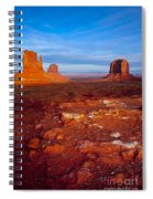 Sunset Over Monument Valley Spiral Notebook