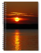Sunset Over Silver Lake Sand Dunes Spiral Notebook