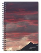 Sunset Over The Colorado Rocky Mountain Continental Divide Spiral Notebook