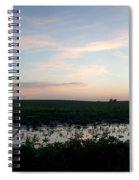 Sunset Over The Fields Spiral Notebook